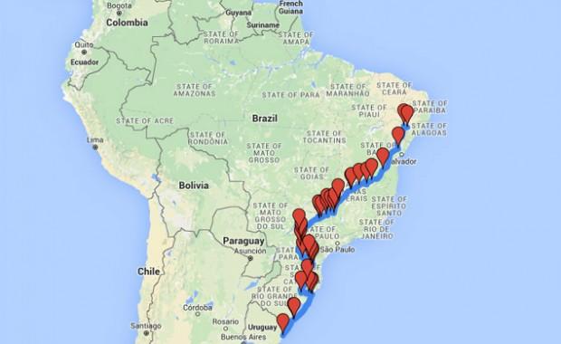Mapa do percurso; clique para abrir