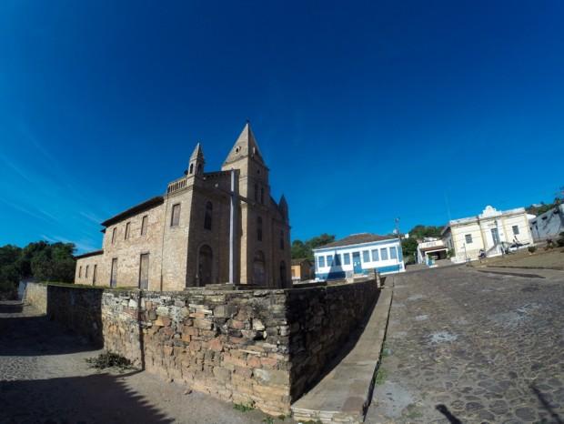 Igreja de santo Antonio, no  centro da cidade de Grão Mogol,  (MG)que foi construída por escravos.    .( Foto Joel Silva / Folhapress. )